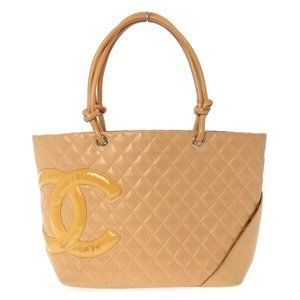 Auth Chanel Cambon Line Large Tote Bag #19628C12B